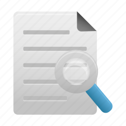 document, documents, file, page, paper, search, text icon