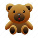 bear, teddy, animal, toy