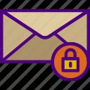 email, hosting, lock, seo, storage, web icon