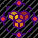 blockchain, hosting, seo, storage, web icon