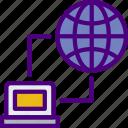 connection, hosting, internet, seo, storage, web icon