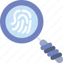 fingerprint, protection, search, security, virus, web icon