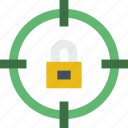 protection, security, target, virus, web icon