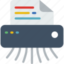 file, protection, security, shredder, virus, web icon