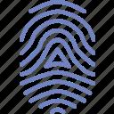 fingerprint, protection, security, virus, web icon