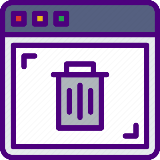 browser, protection, security, trash, virus, web icon