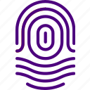 fingerprint, protection, security, virus, web icon