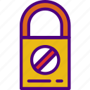 prohibited, protection, security, virus, web icon