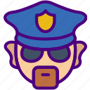police, protection, security, virus, web icon