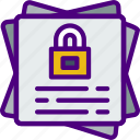 files, protected, protection, security, virus, web icon