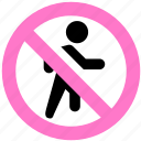 no enter, no entrance icon