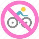 bike, no bike, non-motor vehicle icon