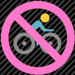 bike, no bike, non-motor vehicle icon