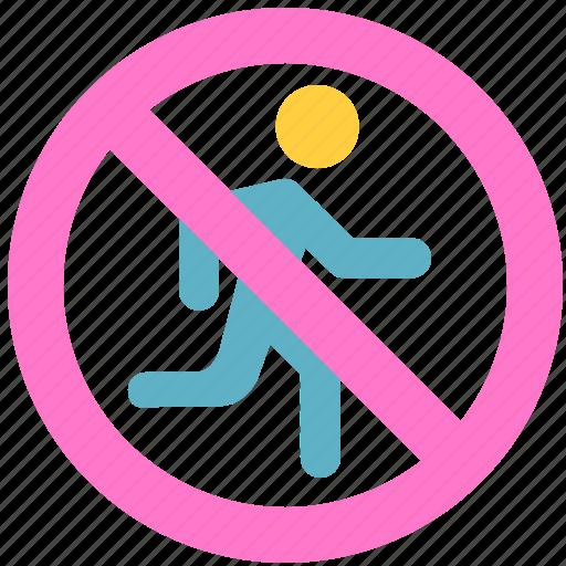 don't run, run icon