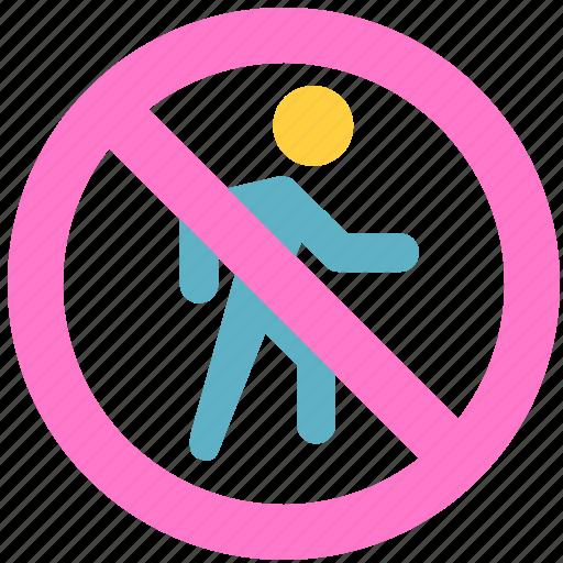 block, don't enter, enter, prevent, stop icon