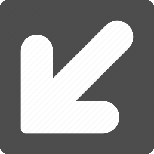 cursor, down left, export, move, navigation, pointer, pointing arrow icon