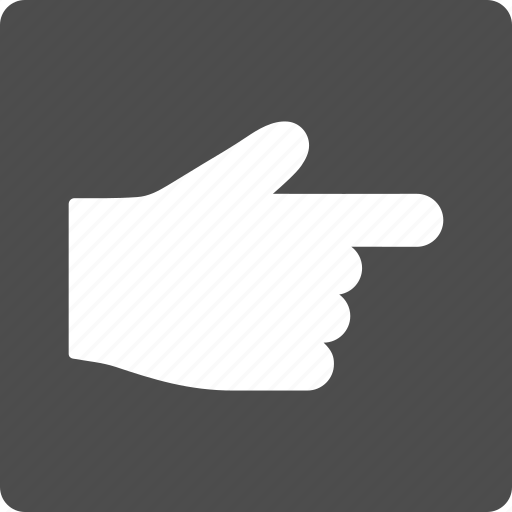 choice, direction, gesture, hand, index finger, point, pointer icon