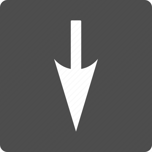 direction, down, download, move, pointer, sharp arrow, shift icon