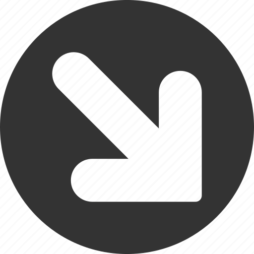 arrow, direction, down right, export, move, navigation, out icon