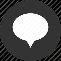 banner, bubble, chat, comment, communication, human speech, text message icon