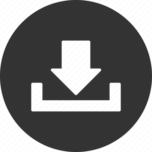 disk, down arrow, download, drop, load, save, store icon