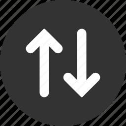 exchange, flip, flipping, mirror, swap, vertical, vertically icon