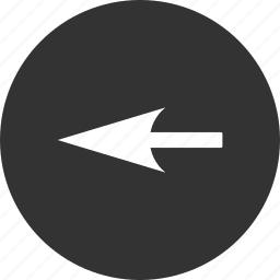 back, direction, history, pointer, previous, sharp left arrow, undo icon