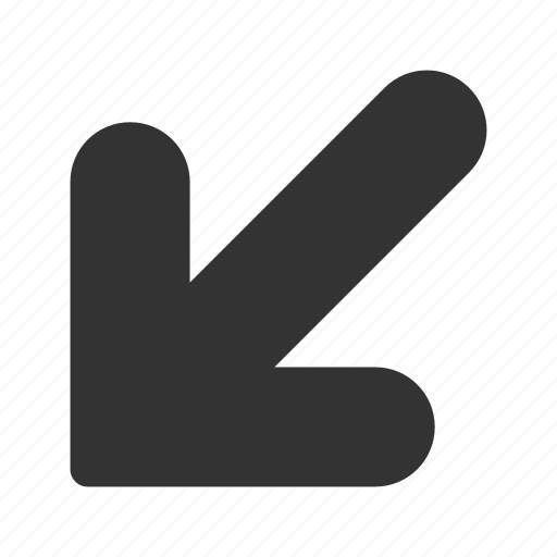 arrow, direction, down, left, navigate, navigation, pointer icon