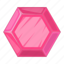 gemstone, pink, princess, royal icon