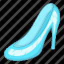 cinderella, glass, princess, slipper icon
