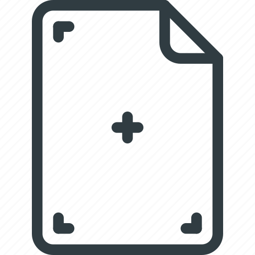 area, cut, mark, marked, paper, print icon