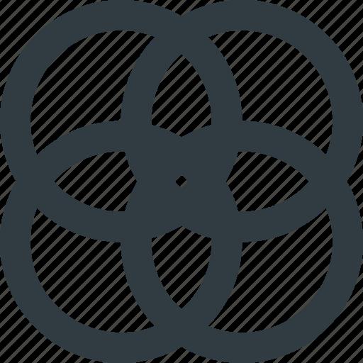 circles, cmyk, color, colors icon