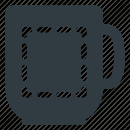 area, cup, mug, personalize, print icon
