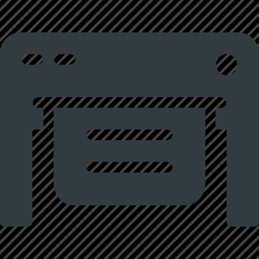 big, paper, plotter, printer icon