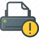 attention, printer icon