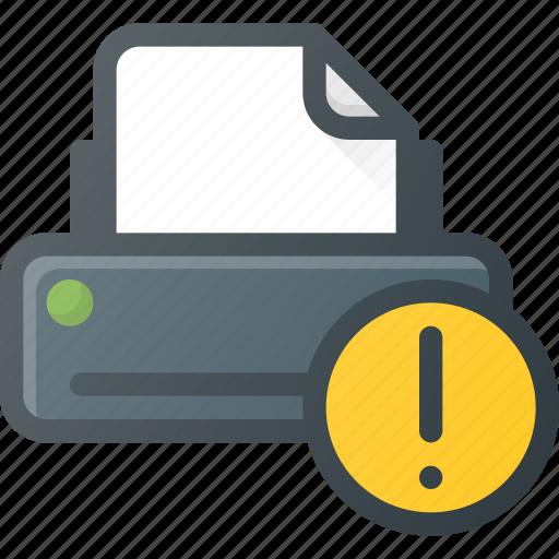 attention, printer icon