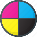 circles, cmyk, color, colors icon