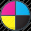 circles, cmyk, color, colors