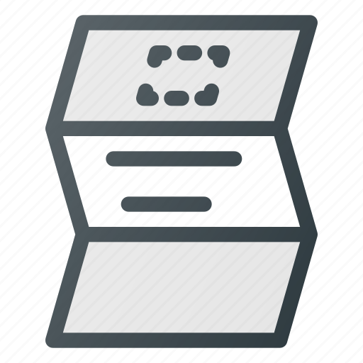 ad, flyer, leaflet, paper, print icon