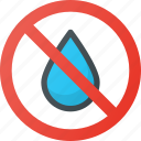 drop, ink, no, tint icon