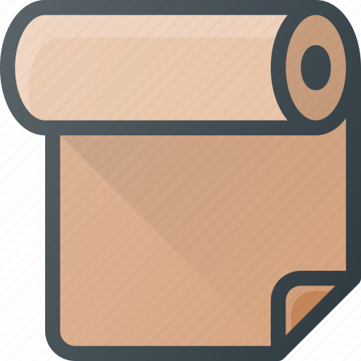 office, paper, print, roll icon