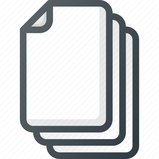paper, stack, try icon