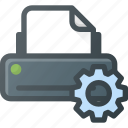 printer, settings icon