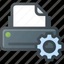 printer, settings