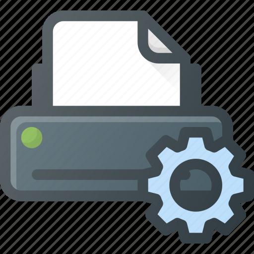 printer, settings icon