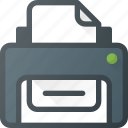 office, print, printer icon