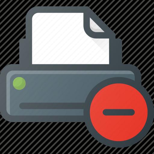 Printer, remove icon - Download on Iconfinder on Iconfinder