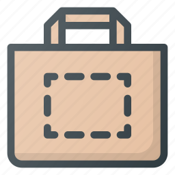 area, bag, personalize, print, printing, shopping icon
