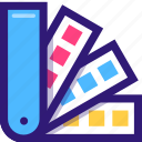 color, colorful, coloring, guide, paint, palette, swatch icon