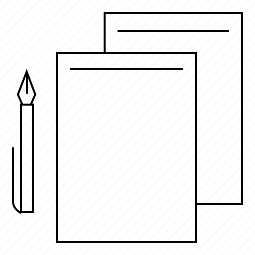 pen, print, shop, stationary icon